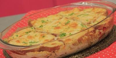 طبق الدجاج بالتوست والجبن من المطبخ الفرنسي