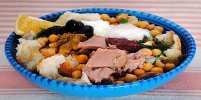 اللبلابي التونسي مع البيض